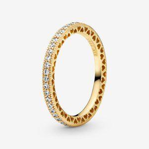 Pandora Sparkle & Hearts Ring